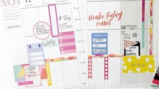 Plan With Me: November 12-18, 2018 [Create 365 The Happy Planner Stickers]