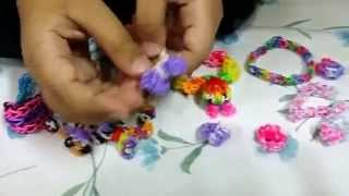 preview picture of video 'Loom Band Charms and Bracelets - Made by Hadiya Jamshaid'