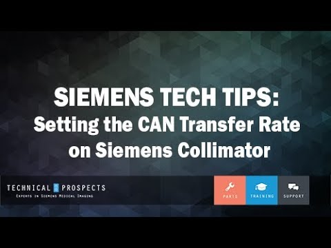 Setting the CAN Transfer Rate on Siemens Collimator