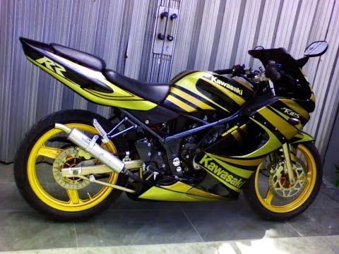 Video Motor Trend Modifikasi | Video Modifikasi Motor Kawasaki Ninja RR 150 Cutting Sticker Terbaru