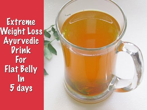 Fat Cutter Drink For Extreme Weight Loss – Get Flat Belly In 5 Days With Turmeric & Curry Leaves Tea