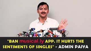 """""""This is a Singlethuva Country and is only for Singles"""" - Admin Paiya's Angry Speech at Press meet"""