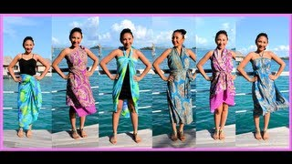 9 WAYS To WRAP,WEAR A SARONG, PAREO, CONVERTIBLE DRESS! (Iris Impressions) - AprilAthena7