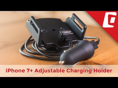 Play Video: Adjustable iPhone Charging Holder with USB Cigarette Lighter Plug