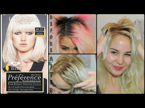 ♡L'oreal Superior Preference Hair Dye in Alaska Demo & Review♡