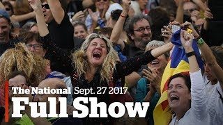 The National for Friday, October 27, 2017: Catalonia's independence, mental health on campus