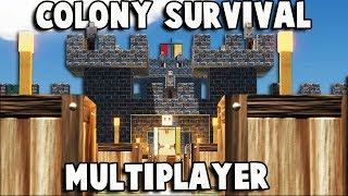 HUGE Kingdom!  Colony Survival MULTIPLAYER w Friends (Colony Survival Multiplayer Gameplay Part 1)