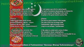 Turkmenistan National Anthem with music, vocal and lyrics w/English Translation