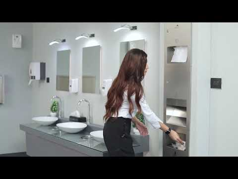 3 In 1 Silver (Matt Finish) Stainless Steel Washroom Recesses Panel