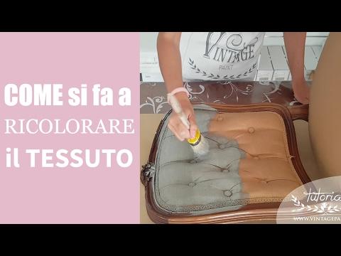 Colorare il tessuto con la Vintage chalk Paint