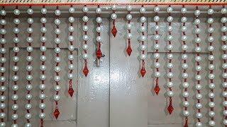 PEARL BEADED TORAN | DIY BEAUTIFUL DOOR HANGING TORAN MAKING