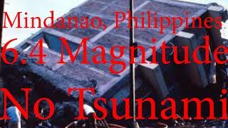 Earthquake  Philippines Mindanao 6.4 Magnitude