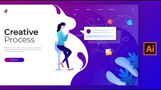 Illustration Landing Page Design Tutorial In Adobe Illustrator CC