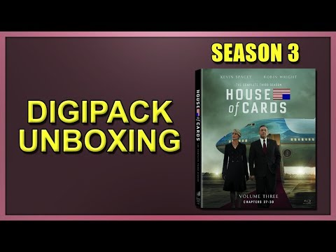 House of Cards: Season 3 Blu-ray Digipack Unboxing