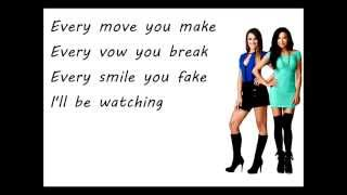 Glee - Every Breath You Take (Lyrics)