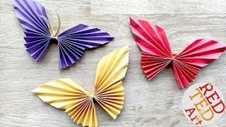 Easy Paper Butterfly Origami - Cute & Easy Butterfly DIY - Origami for Beginners