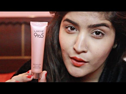 *NEW* Lakme 9 to 5 Weightless Mousse Foundation Review and Demo