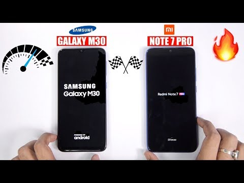 Redmi Note 7 Pro vs Galaxy M30 Speedtest Comparison & RAM Management🔥 🏁