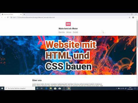 Eigene Website mit HTML und CSS bauen | Tutorial für Anfänger 2020