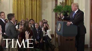 Trump ja CNN:n toimittaja