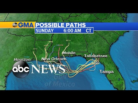 Tropical threat builds in the Gulf of Mexico