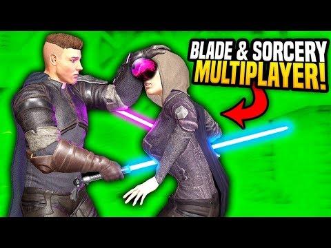 EPIC MULTIPLAYER LIGHTSABER DUELS - Blades and Sorcery VR Mods (Star Wars)