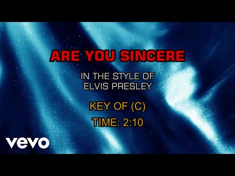 Elvis Presley - Are You Sincere (Karaoke)