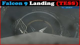 TESS Mission - Landing Of SpaceX's Falcon 9 First Stage