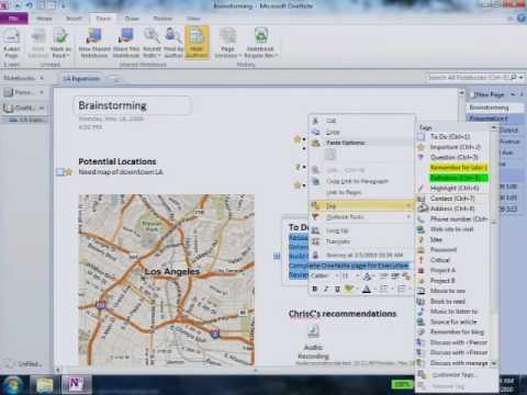Office 2010-tips: OneNote 2010 - YouTube