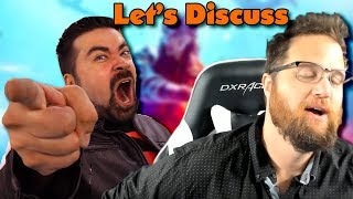 Let's Watch And Discuss Angry Joe Vs. The Quartering Videos