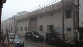 preview picture of video '2013/7/27 16:50 Heavy Shower in Chaozhou(潮州), China'