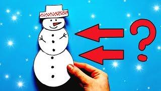 ☃️ БУМАЖНЫЕ СЮРПРИЗЫ НА НОВЫЙ ГОД /// как сделать снеговика своими руками