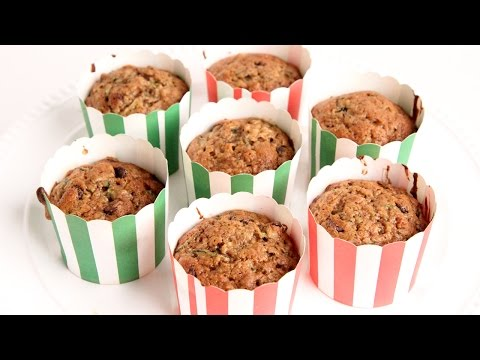 Chocolate Chip Zucchini Bread Muffin Recipe – Laura Vitale – Laura in the Kitchen Episode 961