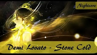 【Nightcore】→ Stone Cold (Lyrics)