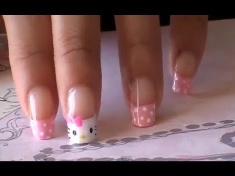 Cute Hello Kitty nails tutorial
