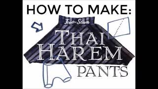 60-Second How To: Thai Harem Pants