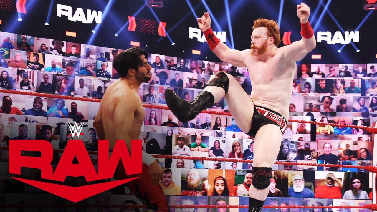 Mansoor Debuts On RAW Against WWE United States Champion Sheamus