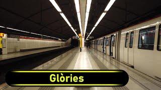 Metro Station Glòries - Barcelona - Walkthrough 🚶