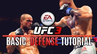 EA UFC 3 BASIC Defense Tutorial! Swaying, Leg Kicks, Range! EA Sports UFC 3 Gameplay