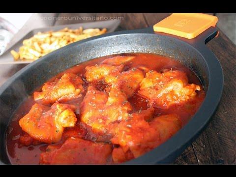 Manitas de cerdo con salsa picante