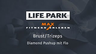 Training mit Flo 12 – Brust/Trizeps – Diamond Pushup