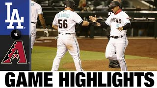 Christian Walkers Double Leads D-backs | Dodgers-D-backs Game Highlights 7/31/20