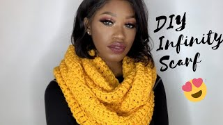 DIY Crochet Infinity Scarf-One Hour Beginner Scarf