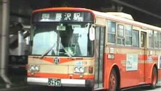 江ノ電バス◆三菱P-MP218P&日デP-U32N◆江ノ島電鉄
