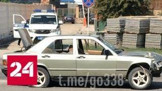 Молодой водитель сбил инспектора во время полицейской погони в Грозном - Россия 24