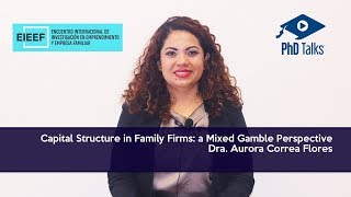 Capital Structure in Family Firms: a Mixed Gamble Perspective