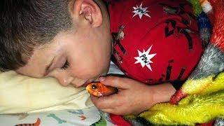Boy Scared Of Dark Sleeps With Pet Goldfish, But Wakes Up To Horrifying Surprise