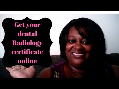 Get your Dental X-ray Certificate ONLINE - YouTube
