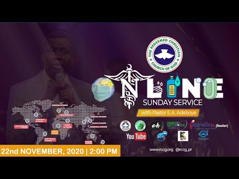 RCCG Live Sunday Service 22nd November 2020 by Pastor E. A. Adeboye - Livestream