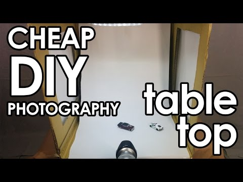 Tutorial How To Make a Cheap DIY Photography Light Studio - Table Top